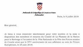 9 juillet 2018 - Ambassade de Croatie