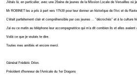 6 février 2020 - Amicale du 1er Dragons - Mission locale de Versailles