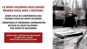 Deuxième « Rendez-vous du Mont-Valérien » : Conférence d'Annette Wieviorka