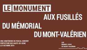 « Rendez-vous du Mont-Valérien » : Conférence de Pascal Convert